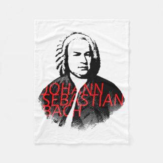 Johann Sebastian Bach portrait and red letters Fleece Blanket