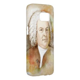 Johann Sebastian Bach portrait in beige