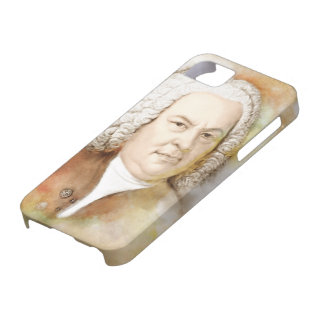Johann Sebastian Bach portrait in beige Barely There iPhone 5 Case