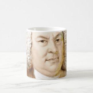 Johann Sebastian Bach portrait in beige Coffee Mug