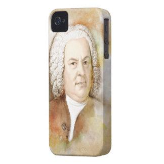 Johann Sebastian Bach portrait in beige iPhone 4 Cover