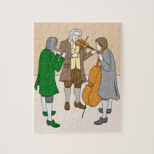 Johann Sebastian Bach puzzle for children