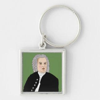 Johann Sebastian Bach Silver-Colored Square Key Ring
