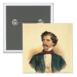 Johann Strauss the Elder 15 Cm Square Badge