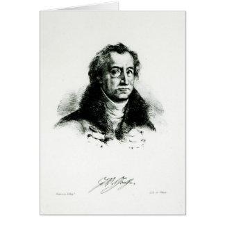 Johann Wolfgang Goethe  engraved by Delacroix Card