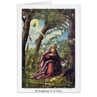 Johannes Altar Middle Panel: John On Patmos Greeting Card