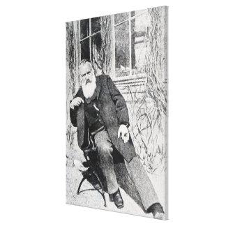 Johannes Brahms, c.1897 Canvas Print