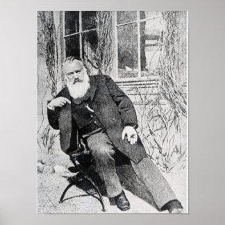 Johannes Brahms, c.1897 Poster