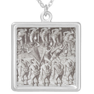 Johannes Lerii's Account of the Caraibe Indians Silver Plated Necklace