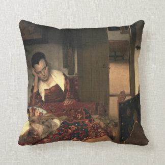 Johannes Vermeer A Maid Asleep Cushion