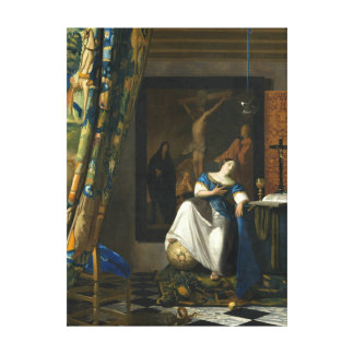 Johannes Vermeer Allegory of the Catholic Faith Canvas Print