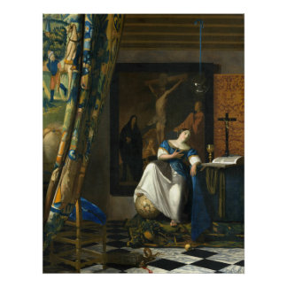 Johannes Vermeer Allegory of the Catholic Faith Poster