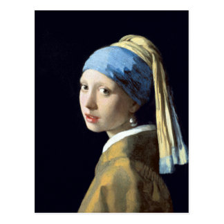 Johannes Vermeer Girl with a Pearl Earring Postcard