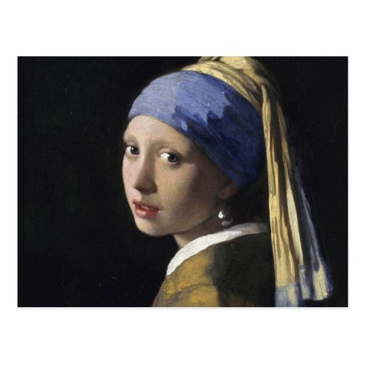 Johannes Vermeer - Girl with a Pearl Earring Post Card
