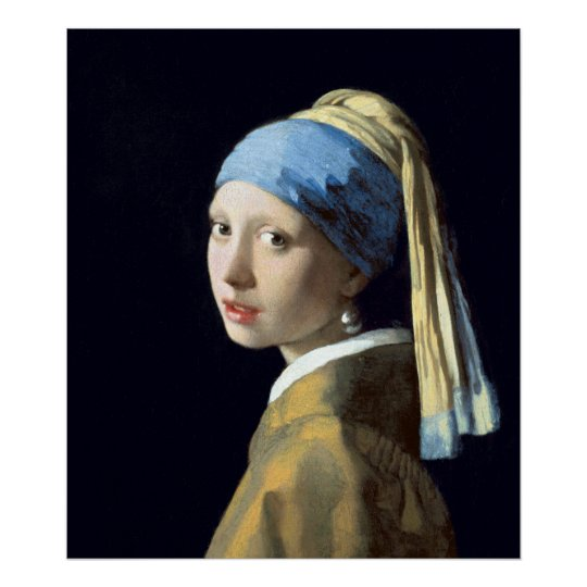 GIRL WITH  A PEARL EARING ICONIC A4 PRINT BY JOHANNES VERMEER MATT OR GLOSS