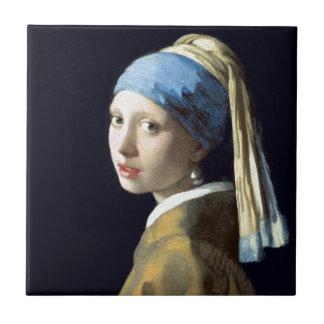 Johannes Vermeer Girl with a Pearl Earring Tile