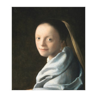 Johannes Vermeer Study of a Young Woman Canvas Print