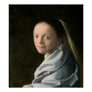 Johannes Vermeer Study of a Young Woman Poster