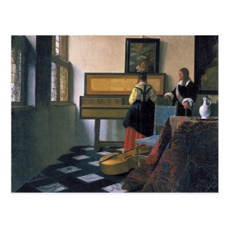 Johannes Vermeer - The Music Lesson Postcard