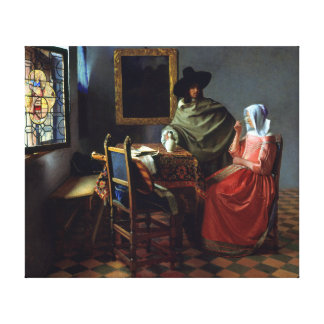 Johannes Vermeer The Wine Glass Canvas Print