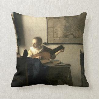 Johannes Vermeer Woman with a Lute Cushion