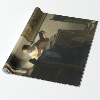Johannes Vermeer Woman with a Lute Wrapping Paper