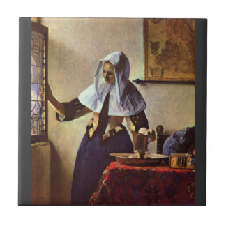 Johannes Vermeer - Young woman with a water jug at Ceramic Tiles