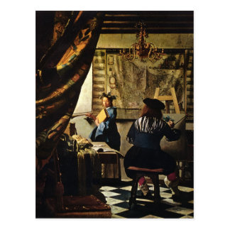 Johannes Vermeer's The Art of Painting circa 1668 Postcard