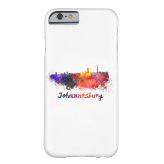 Johannesburg skyline in watercolor barely there iPhone 6 case