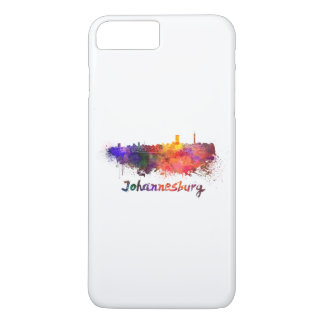 Johannesburg skyline in watercolor iPhone 8 plus/7 plus case
