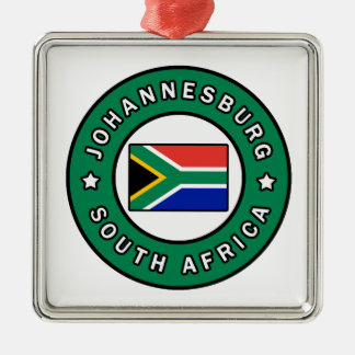 Johannesburg South Africa Metal Ornament