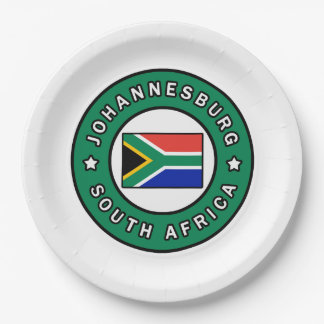 Johannesburg South Africa Paper Plate