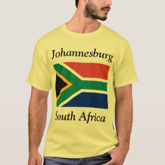 Johannesburg, South Africa with South African Flag T-Shirt
