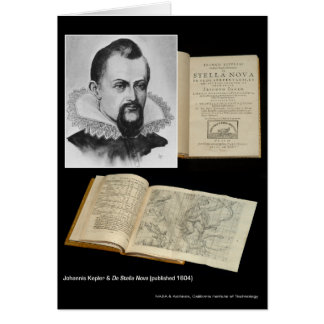Johannis Kepler & De Stella Nova (published in 160 Card