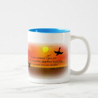 John 13:34 love one another mug