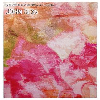John 13:35 napkin