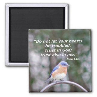 John 14:1 square magnet