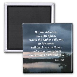 John 14:26 square magnet