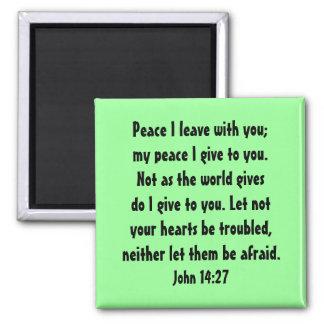 john 14:27 peace magnet