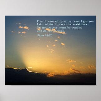 John 14:27 Sunrise Print