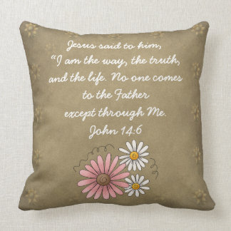 John 14:6 Bible Verse Custom Christian Gift Cushion