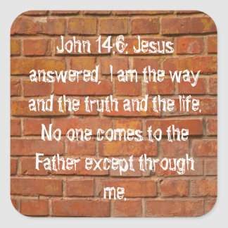 John 14:6 Brick Wall Stickers