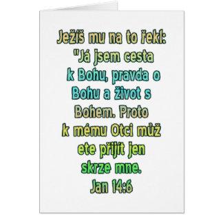 John 14:6 Czech Card