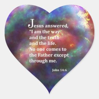 John 14:6 heart sticker