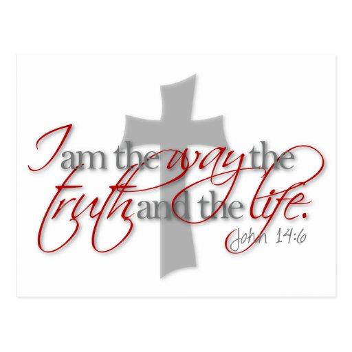 John 14:6 post card