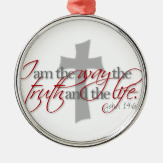 John 14:6 Silver-Colored round decoration