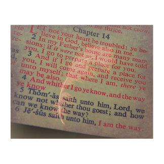 John 14 Bible Verses Wood Print
