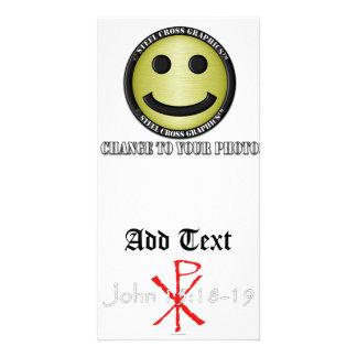 John 15:18-19 photo greeting card
