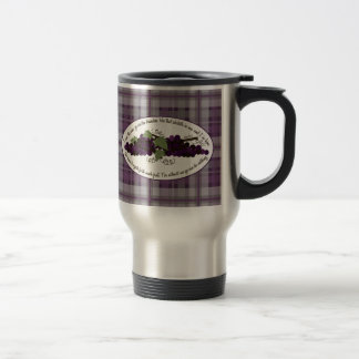 John 15:5 Bible Verse Grapes Mug