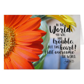 John 16:23 Spiritual Encouragement Notecard